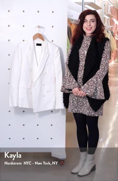 Clark Oversize Double Breasted Cotton & Linen Blazer, sales video thumbnail