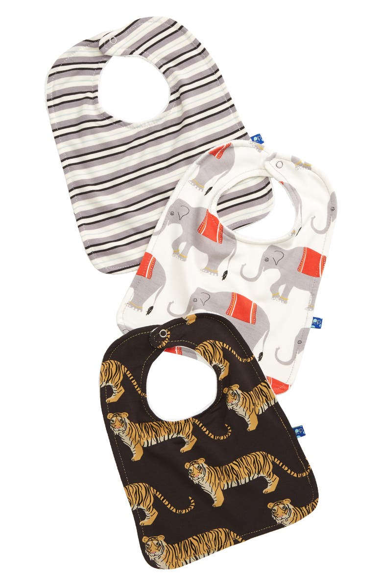 KICKEE PANTS 3-Pack Bibs, Main, color, 900