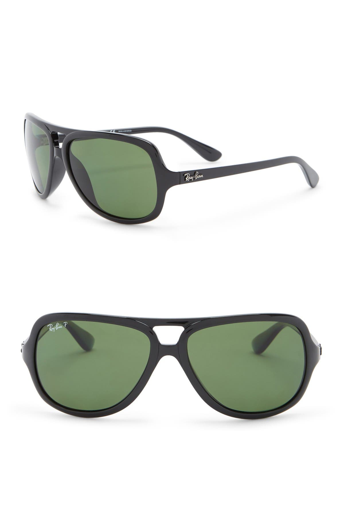 Image of Ray-Ban 59mm Pilot Polarized Aviator Sunglasses