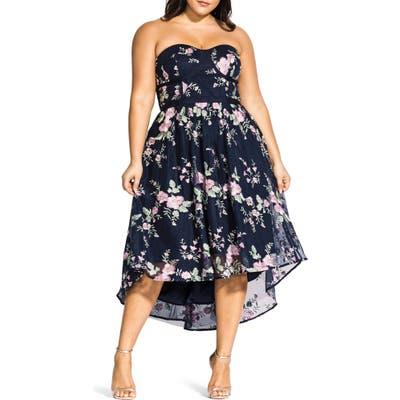 Plus Size City Chic Aphrodite Strapless Dress, Black