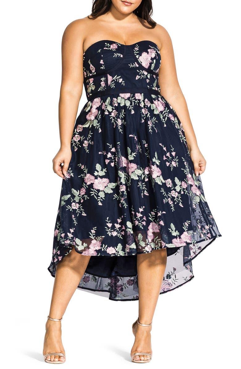 CITY CHIC Aphrodite Strapless Dress, Main, color, 410