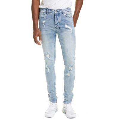 Ksubi Van Winkle Krow Trashed Skinny Jeans, Blue
