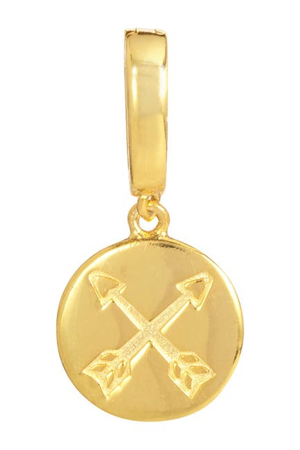 Image of Savvy Cie 18K Yellow Gold Vermeil Protection Double Arrow Charm