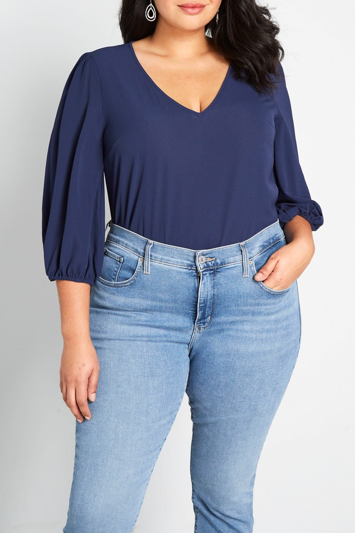 Image of MODCLOTH Certainly Essential V-Neck Blouse