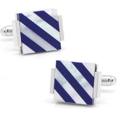 Cufflinks, Inc. Mother-Of-Pearl & Lapis Lazuli Cuff Links