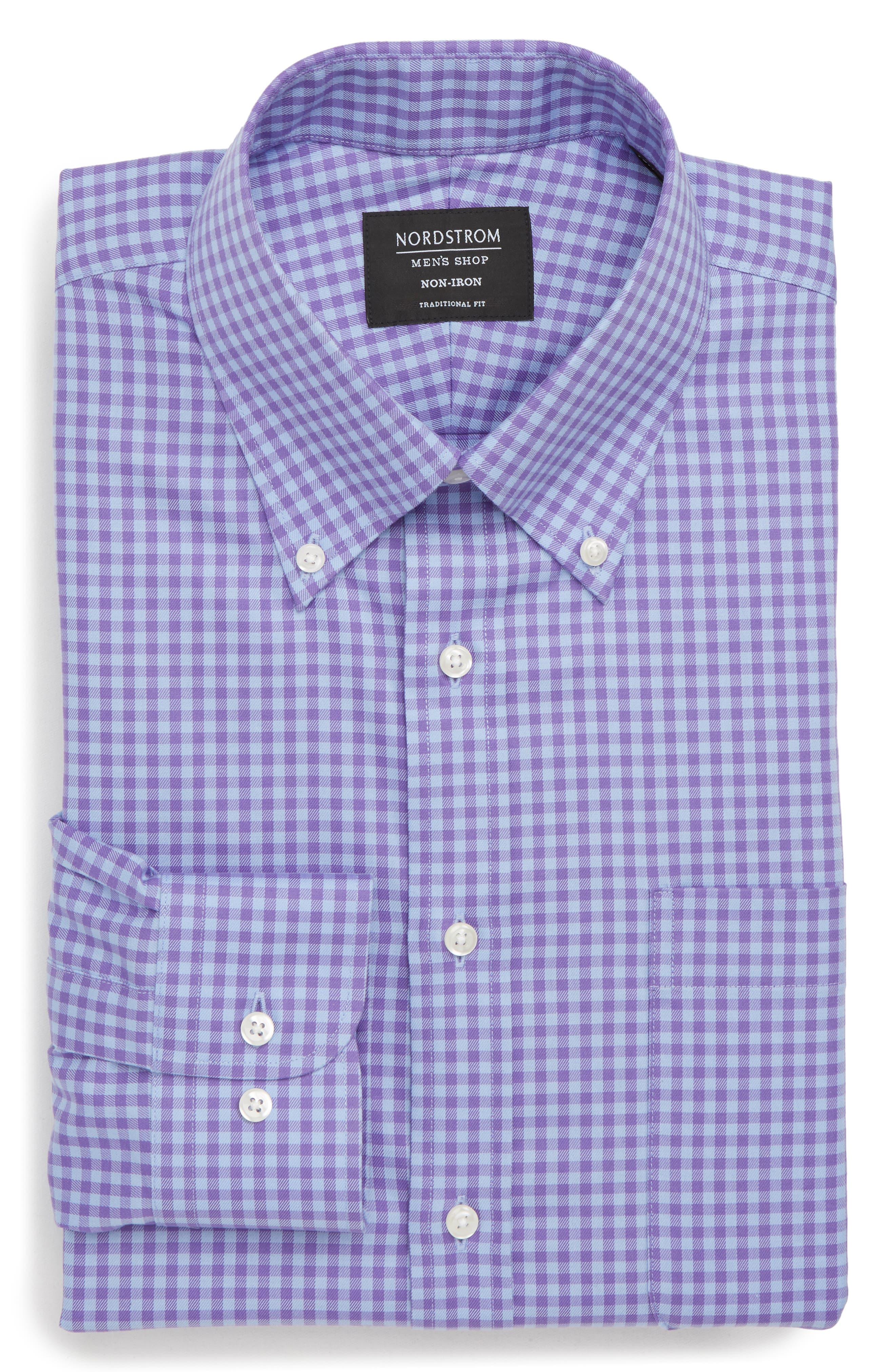 ,                             Traditional Fit Non-Iron Gingham Dress Shirt,                             Main thumbnail 23, color,                             510