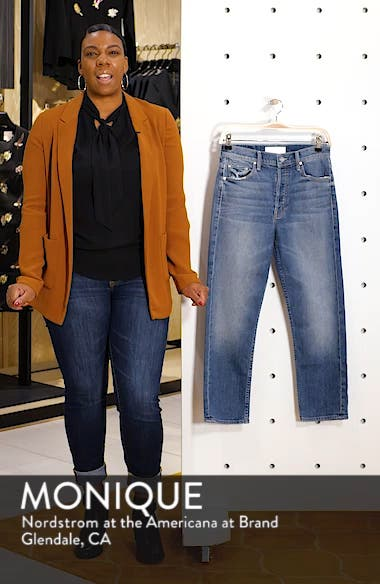 The Tomcat High Waist Ripped Crop Straight Leg Jeans, sales video thumbnail