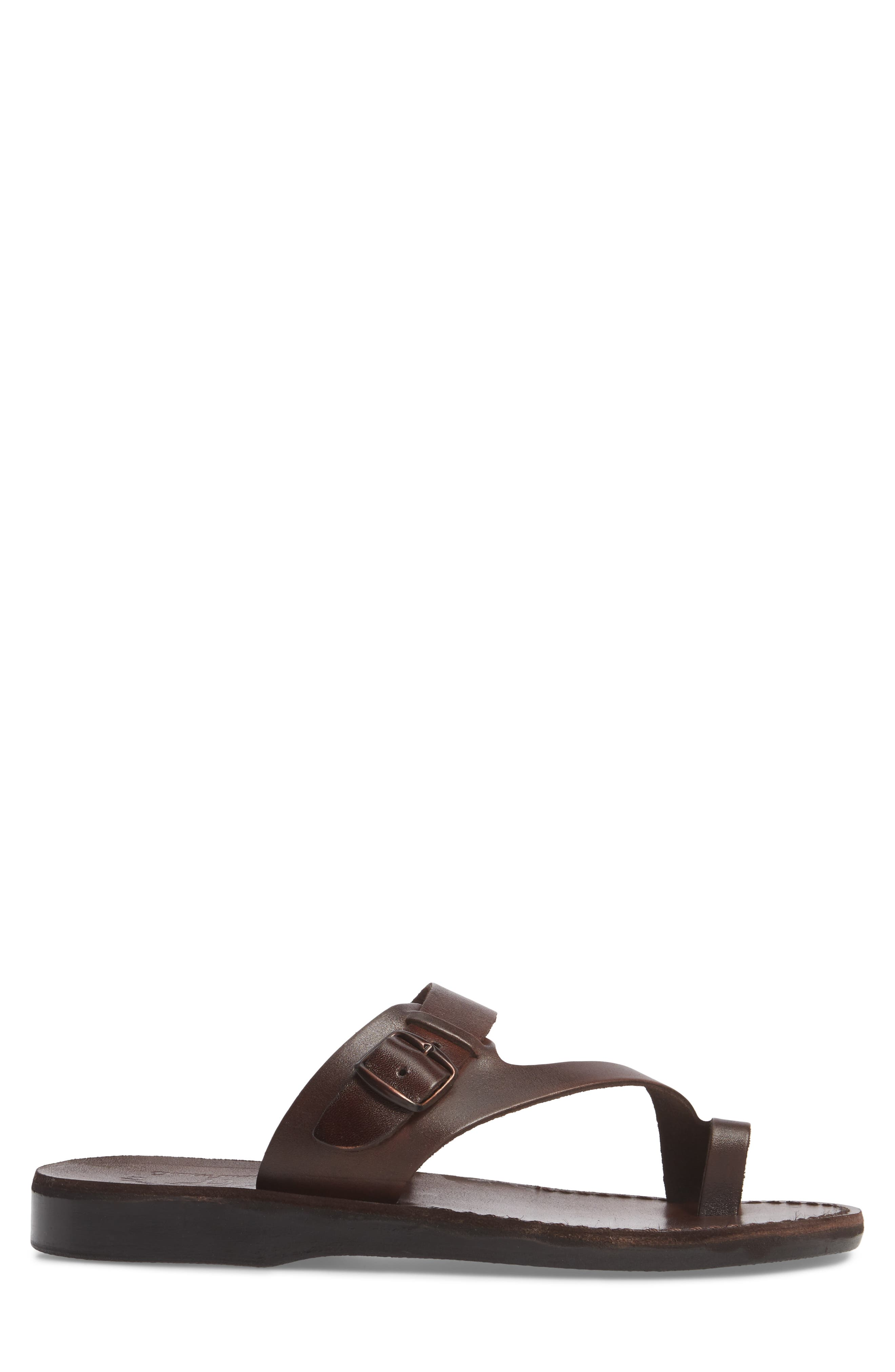 ,                             Abner Toe Loop Sandal,                             Alternate thumbnail 3, color,                             BROWN LEATHER