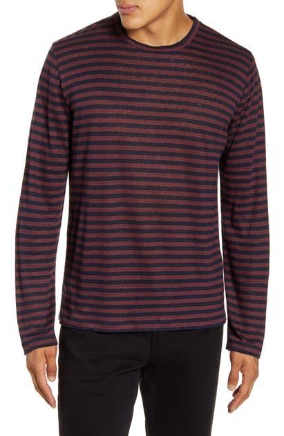 Frame T-shirts STRIPE LINEN T-SHIRT