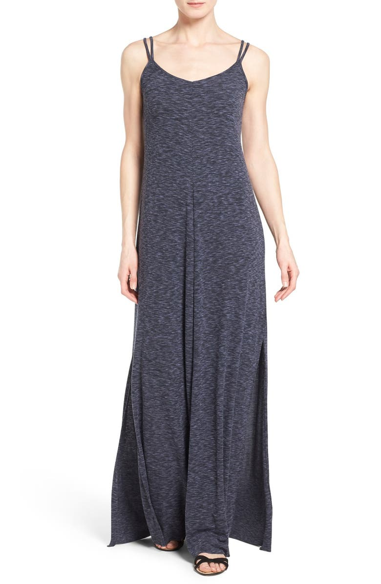 CASLON<SUP>®</SUP> V-Neck Maxi Tank Dress, Main, color, 001