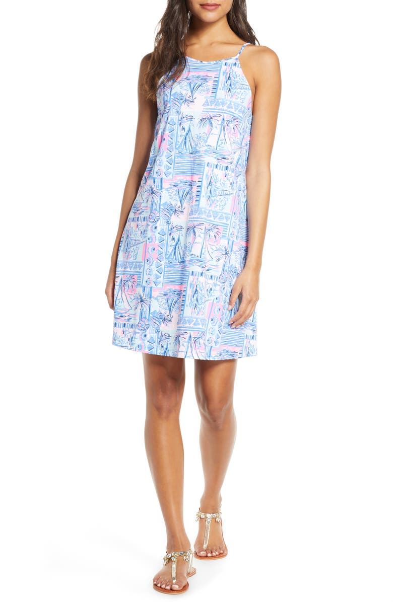 LILLY PULITZER<SUP>®</SUP> Margot Swing Dress, Main, color, WHISPER BLUE YEAH BUOY