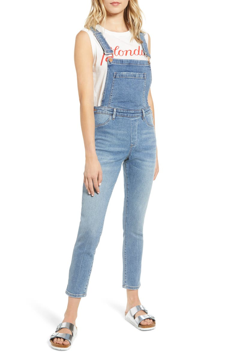 BLANKNYC Classic Skinny Overalls, Main, color, ITS VINTAGE