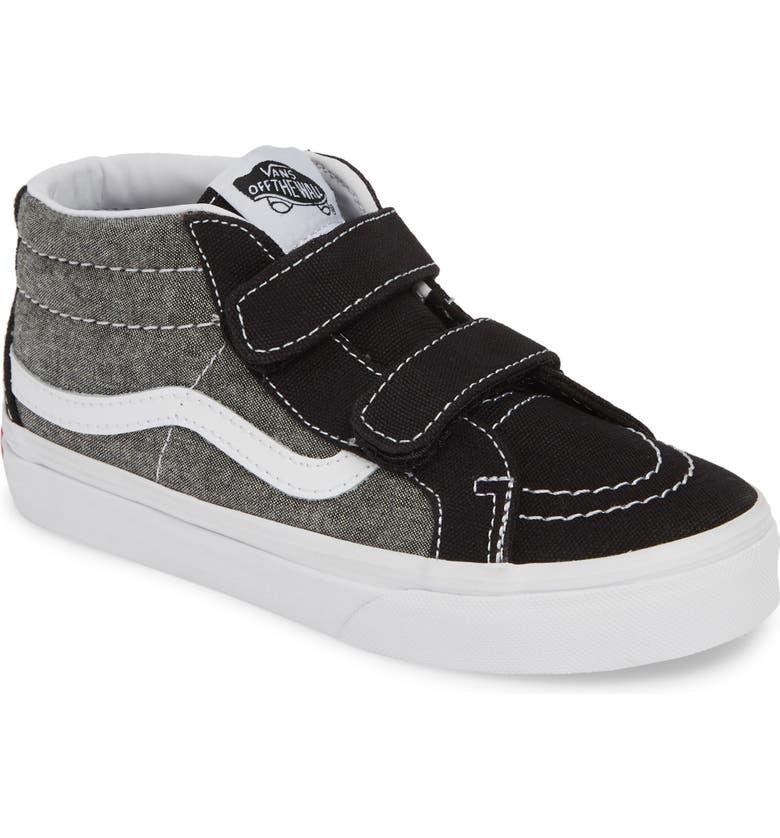 VANS Sk8-Mid Reissue V Sneaker, Main, color, CANVAS BLACK/ TRUE WHITE
