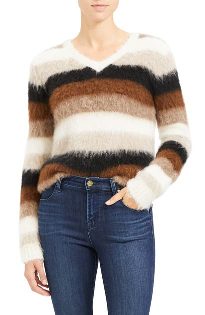 Theory Sweaters STRIPE ALPACA BLEND SWEATER