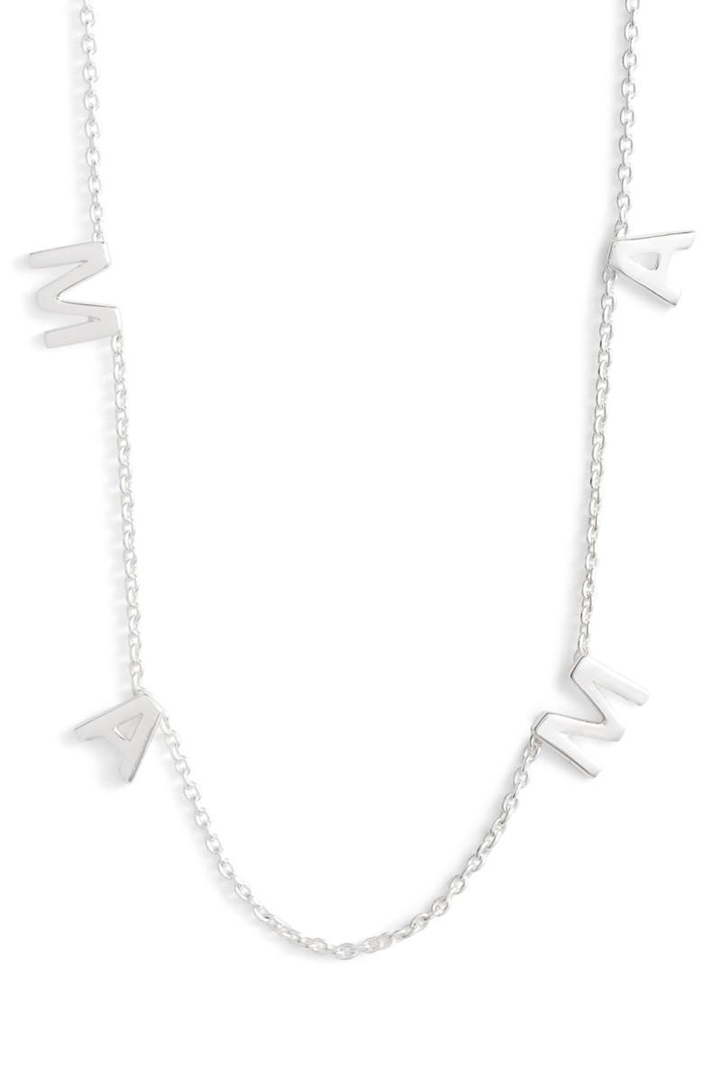 ARGENTO VIVO STERLING SILVER Argento Vivo Mama Frontal Necklace, Main, color, 040