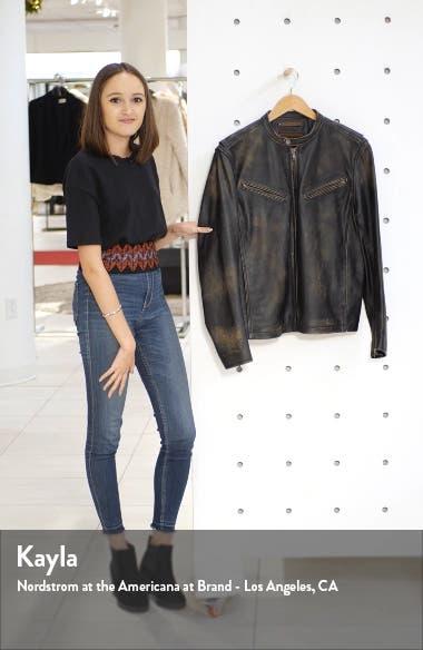 Calfskin Leather Racer Jacket, sales video thumbnail