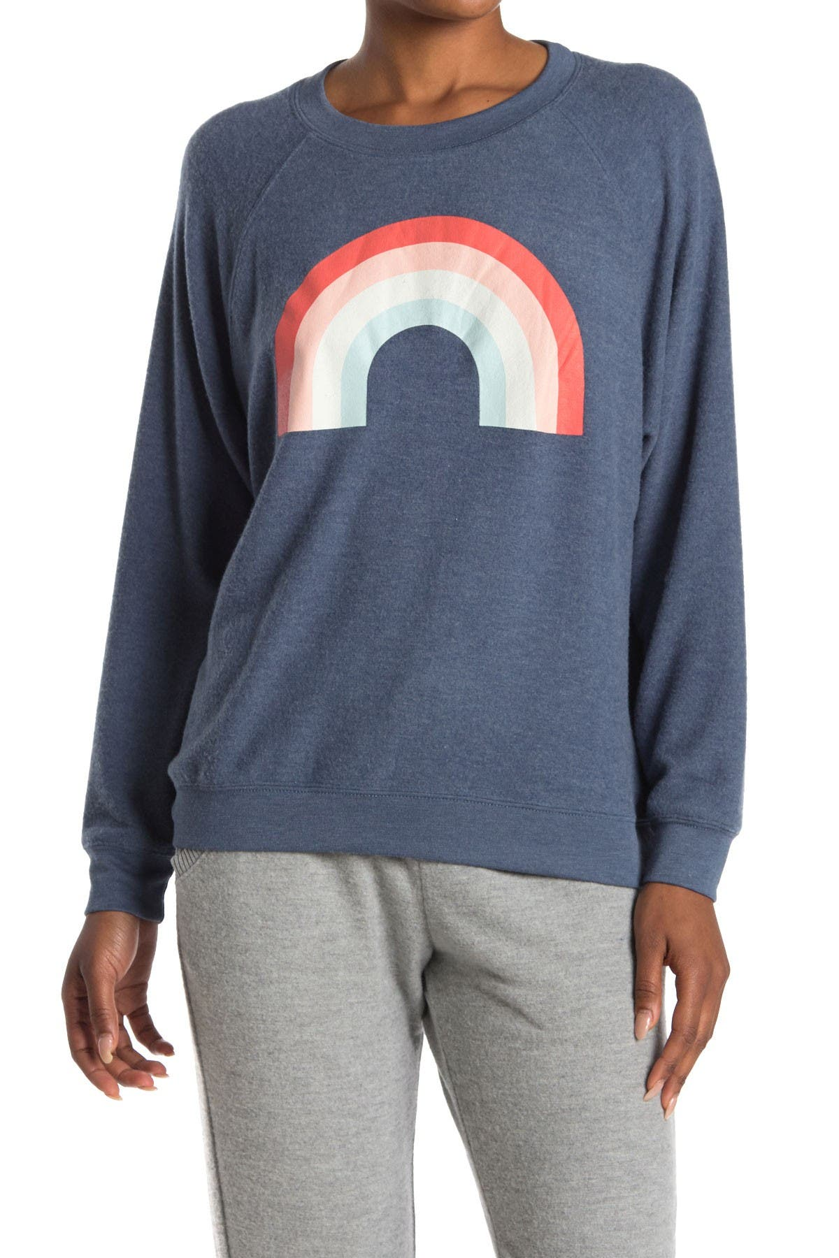 Image of WILDFOX Sommers Freedom Rainbow Pullover