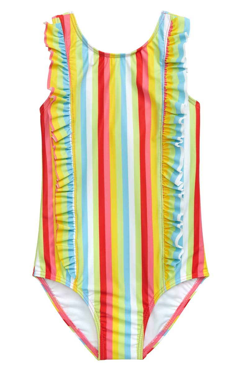 TUCKER + TATE Ruffle One-Piece Swimsuit, Main, color, 101