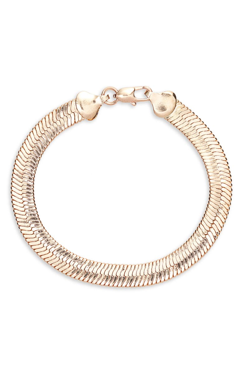 8 OTHER REASONS x Jill Jacobs Snake Chain Bracelet, Main, color, 710