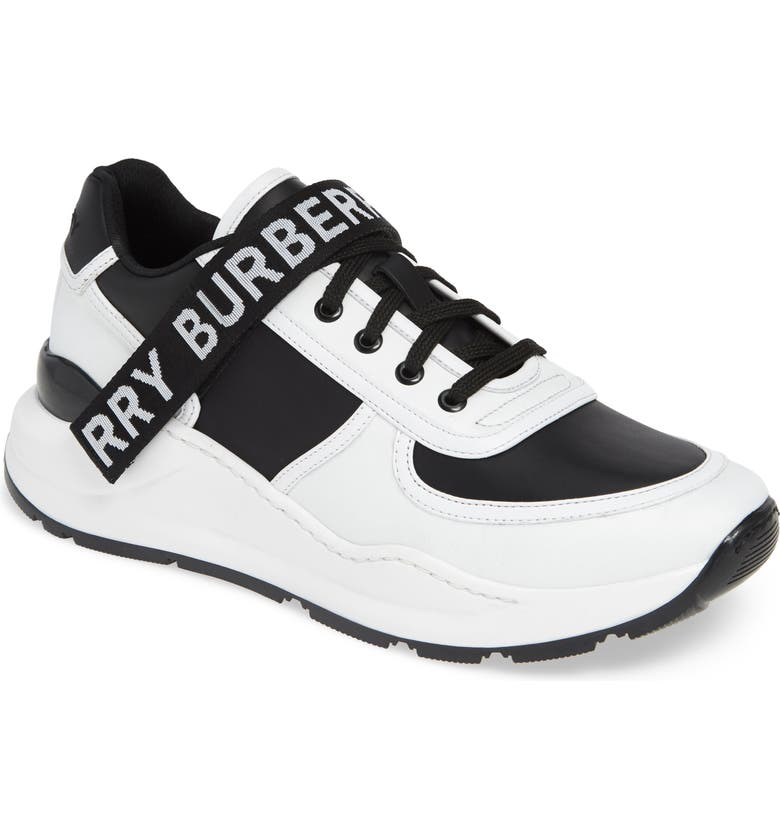 BURBERRY Ronnie Sneaker, Main, color, BLACK / OPTIC WHITE