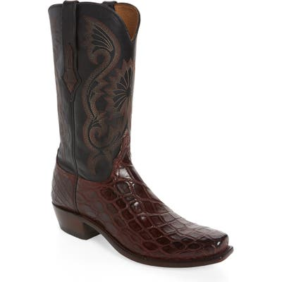 Lucchese Rio Cowboy Boot - Red