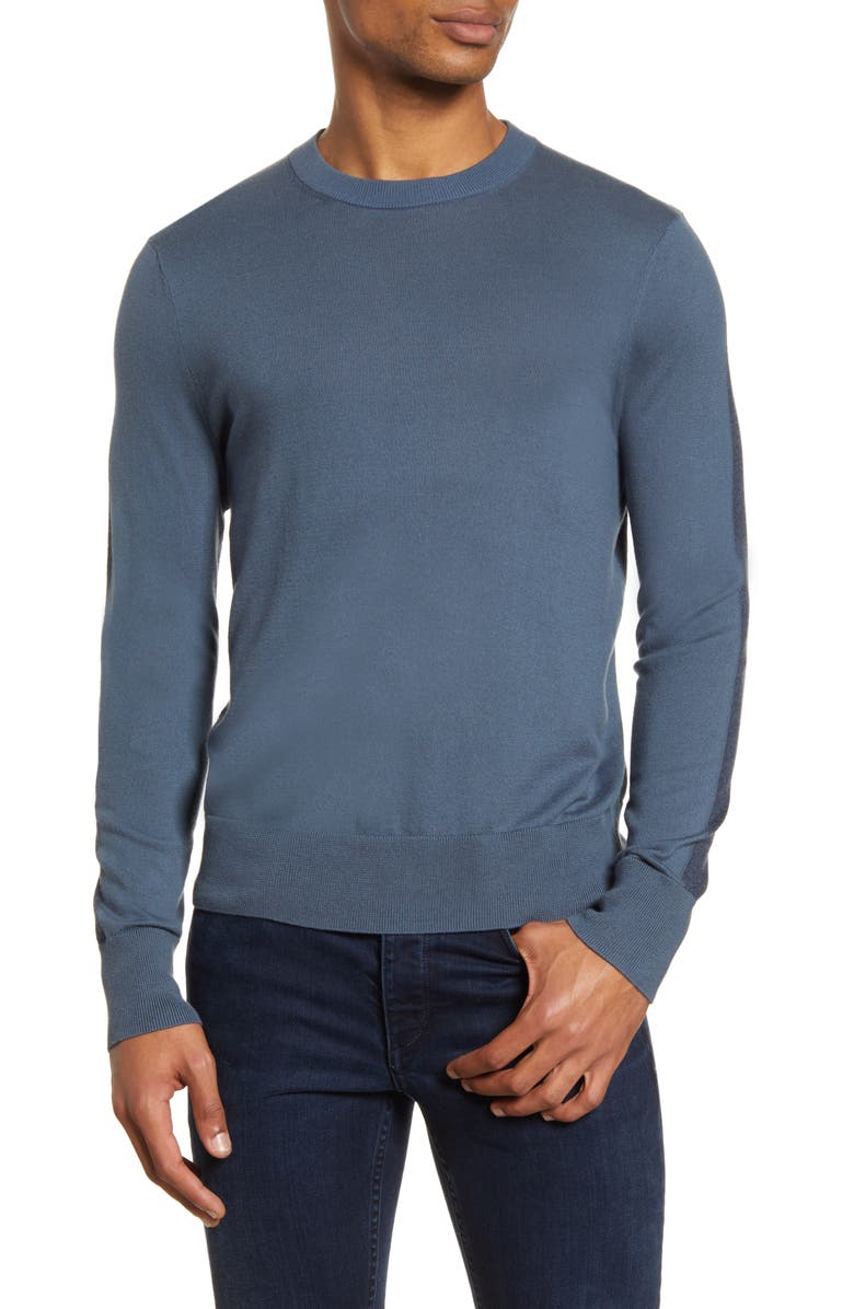 RAG & BONE Barrow Colorblock Sweater, Main, color, WASHED BLUE