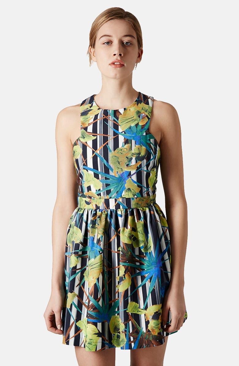 TOPSHOP 'Yukka Yukka' Print Sundress, Main, color, 400