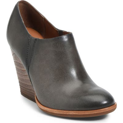 Kork-Ease Leav Demi Wedge Bootie- Grey
