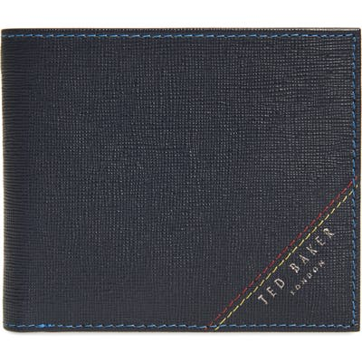Ted Baker London Hidd Rfid Leather Bifold Wallet - Blue