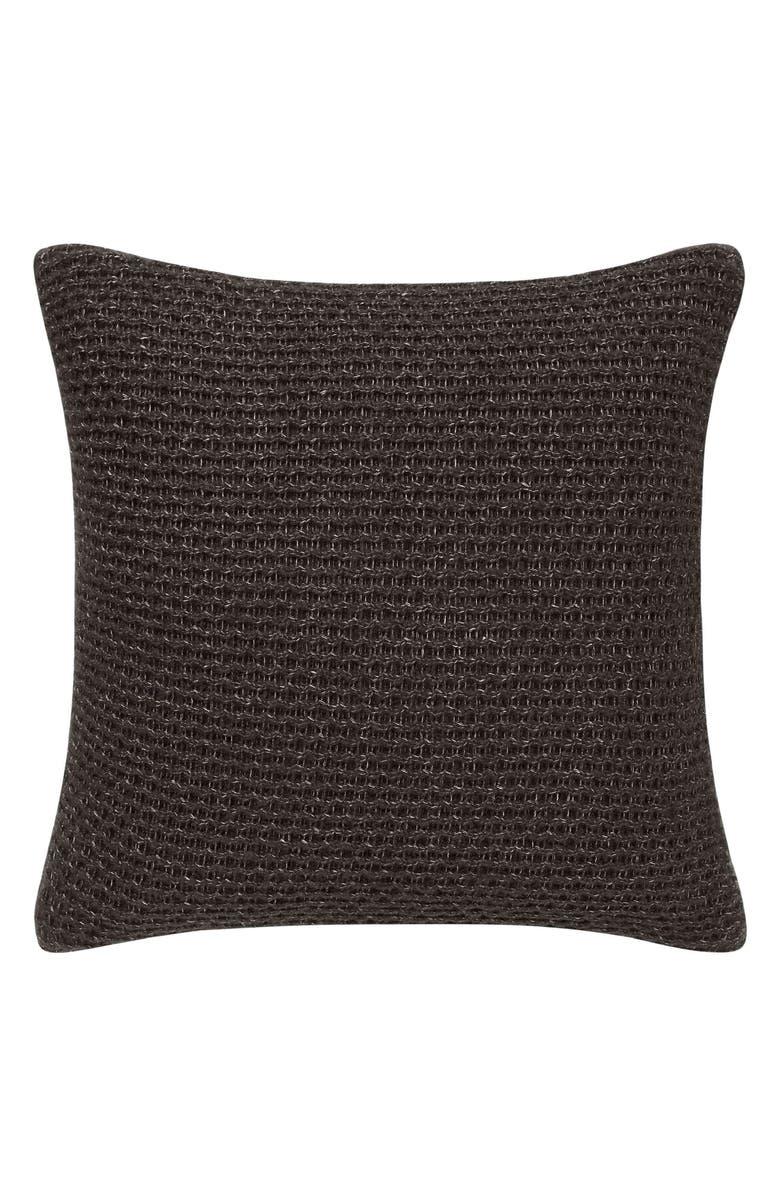 VERA WANG Marled Knit Accent Pillow, Main, color, 001