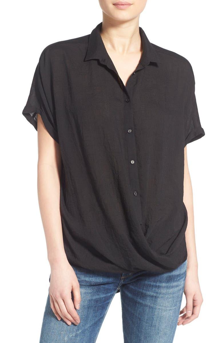 --- Surplice Short Sleeve Shirt, Main, color, 001