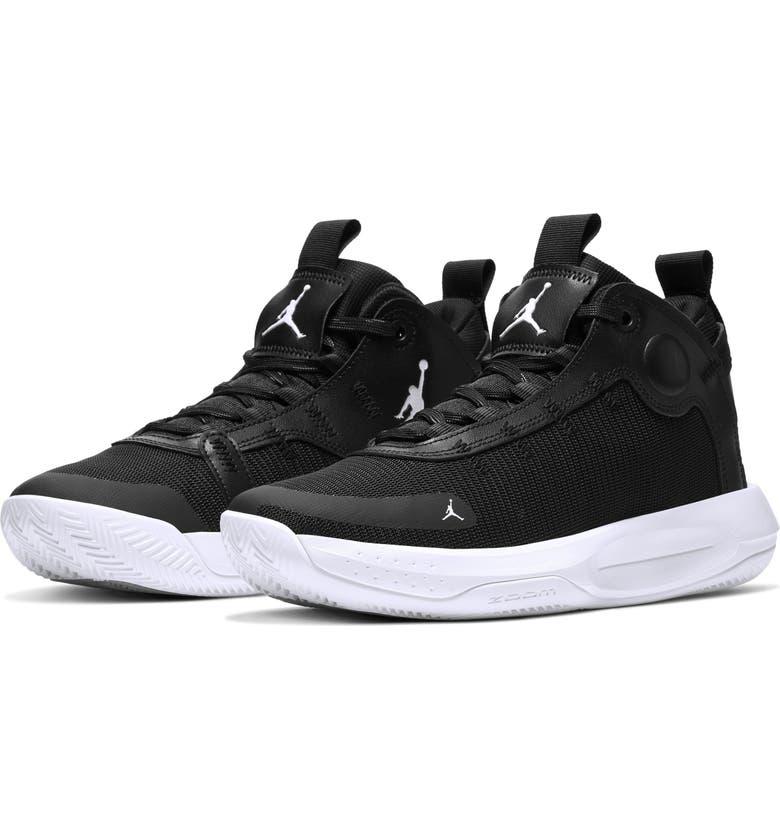 JORDAN Nike Jordan Jumpman 2020 Basketball Shoe, Main, color, BLACK/ ELECTRIC GREEN/ WHITE
