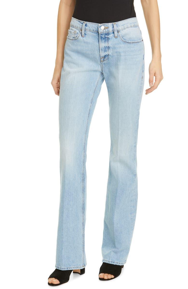 FRAME Le Mini Bootcut High Waist Jeans, Main, color, OLIN