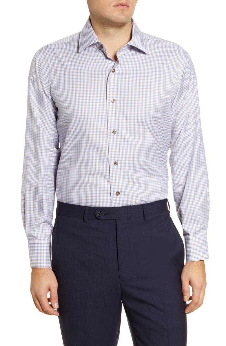 LORENZO UOMO Trim Fit Check Dress Shirt, Main, color, 250