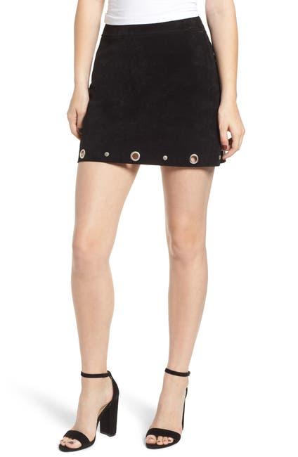 Image of BLANKNYC Denim Grommet Suede Skirt
