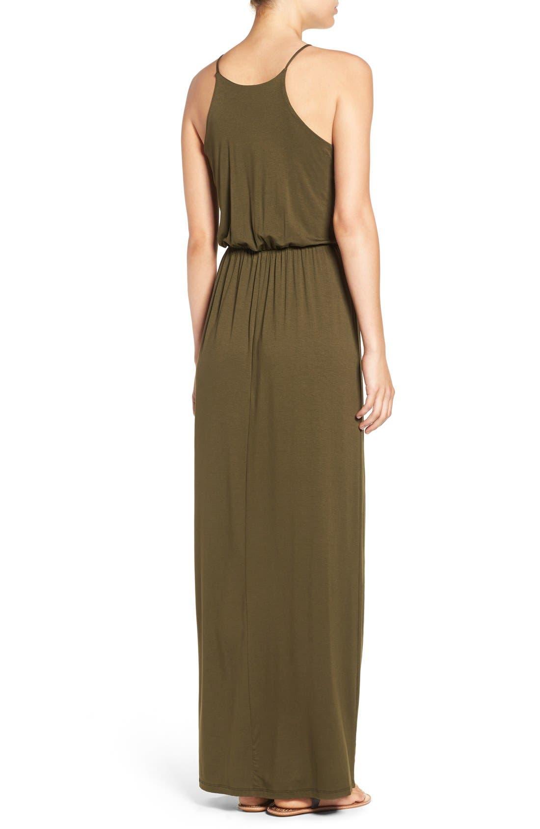 ,                             High Neck Maxi Dress,                             Alternate thumbnail 86, color,                             302