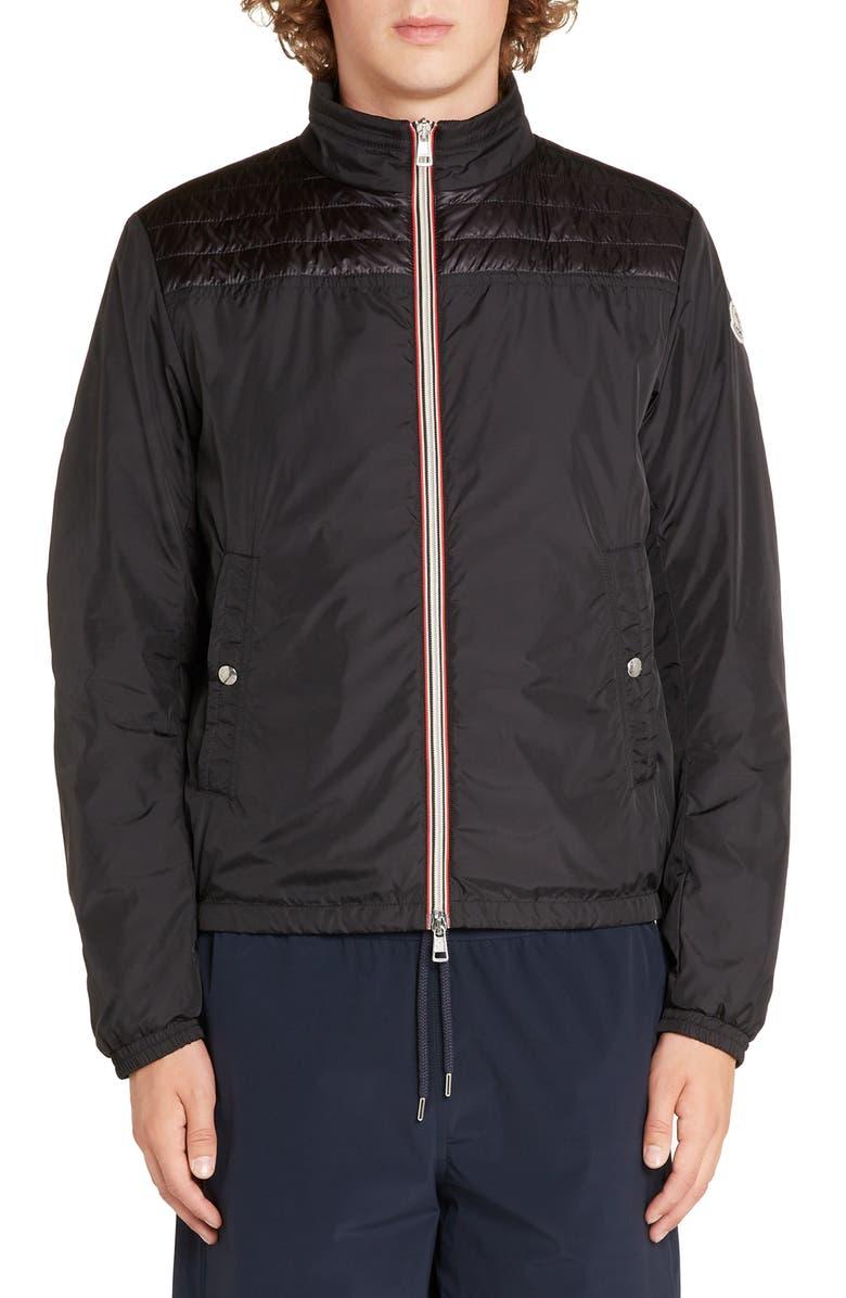 MONCLER Pornueff Down Jacket, Main, color, TRUE BLACK