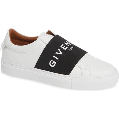 Givenchy Logo Strap Slip-On Sneaker, White