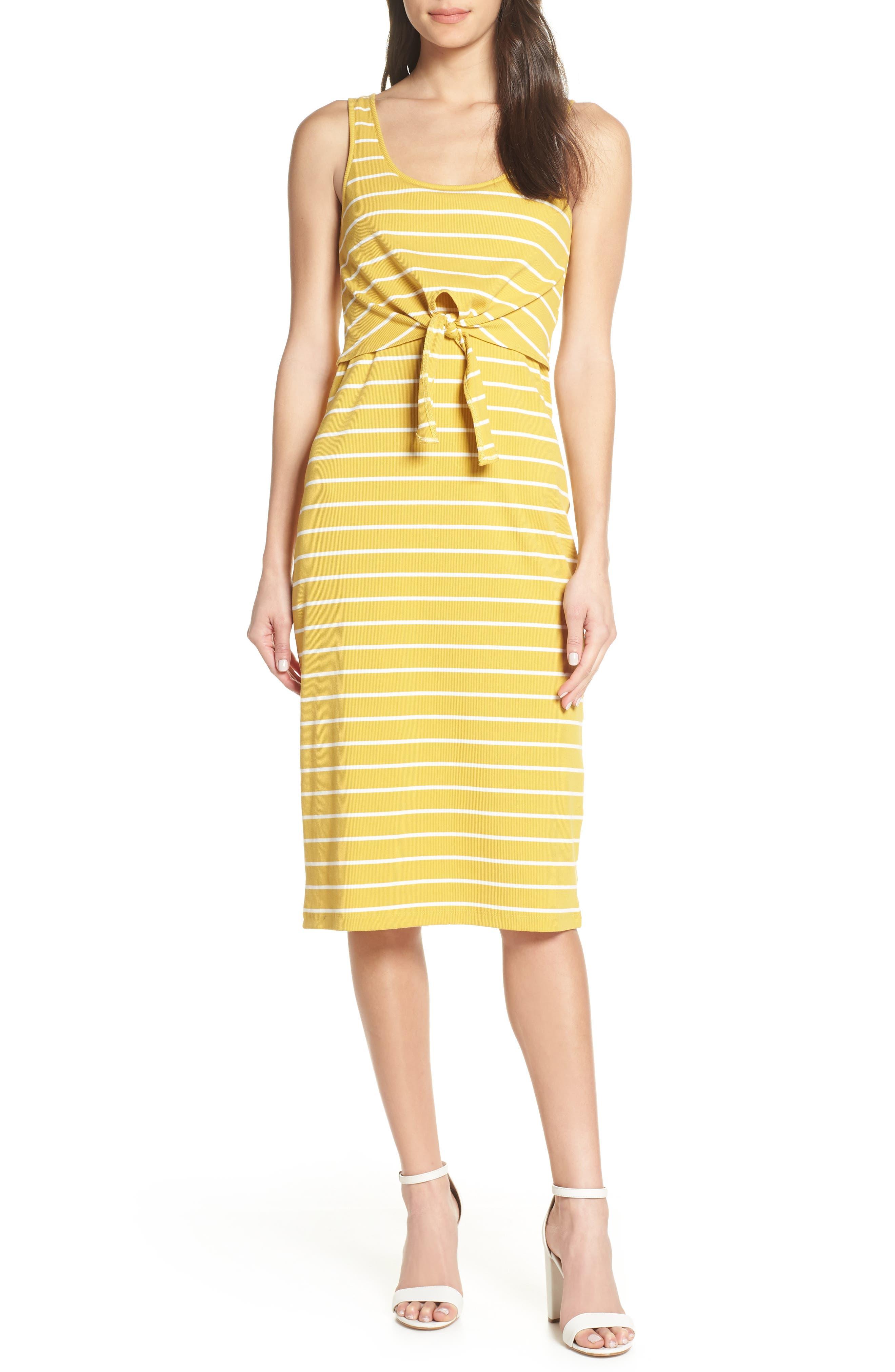 Heartloom Kenzie Stripe Dress, Yellow