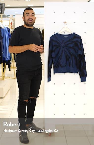 Tie Dye Alpaca & Mohair Blend Crewneck Sweater, sales video thumbnail