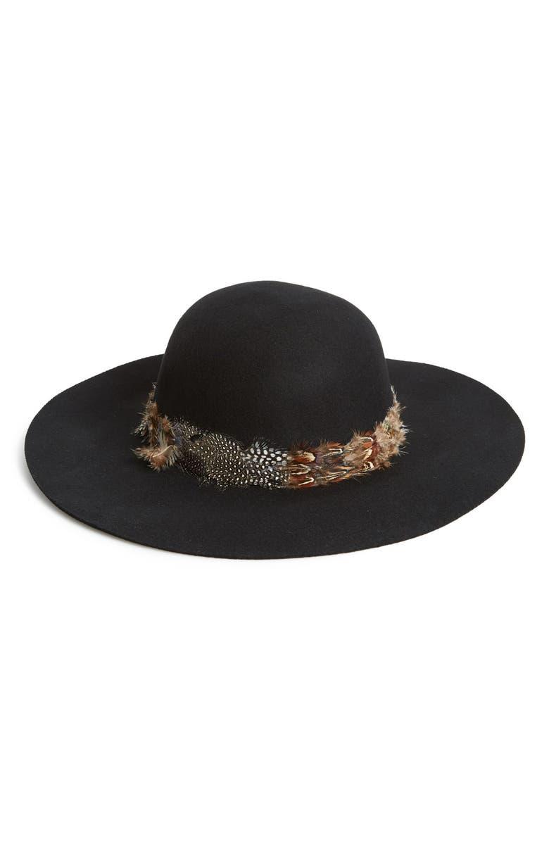 CHRISTYS' HATS 'Kearny' Floppy Felt Hat, Main, color, 001