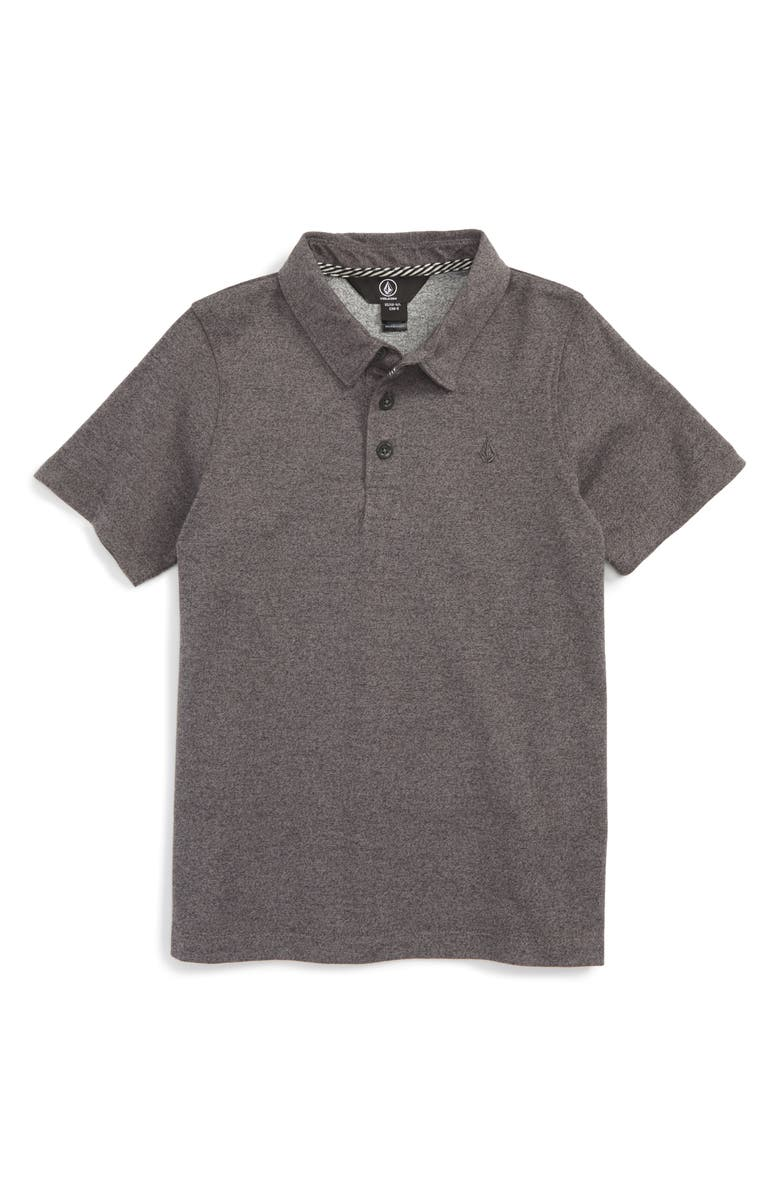 VOLCOM Wowzer Polo, Main, color, STEALTH