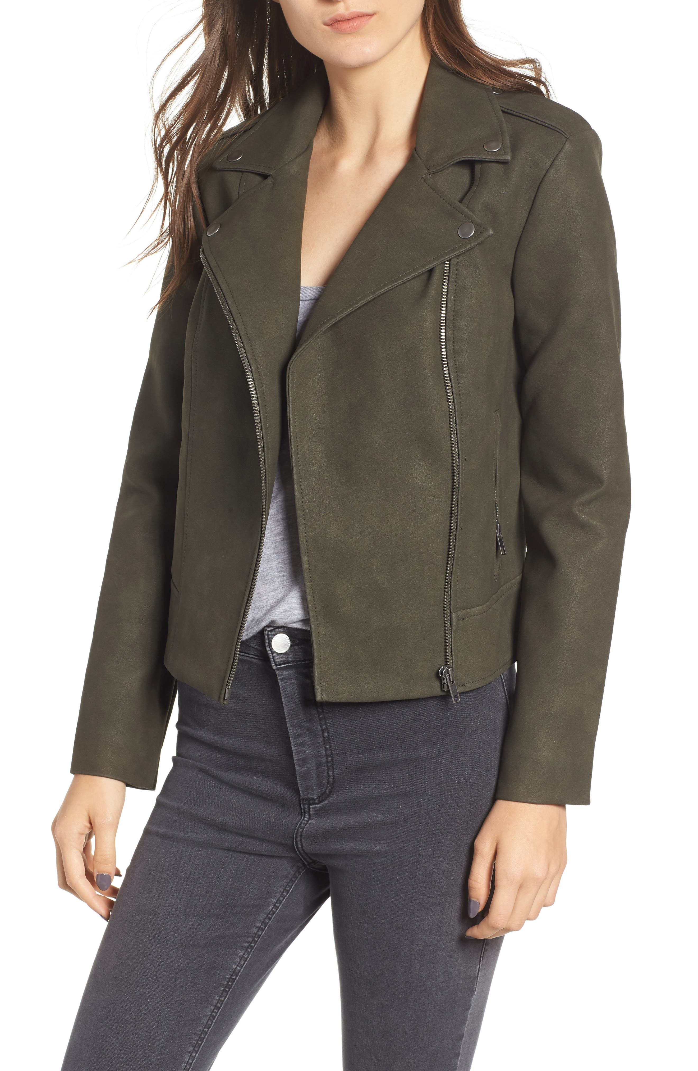 ,                             Easy Rider Faux Leather Moto Jacket,                             Main thumbnail 14, color,                             301