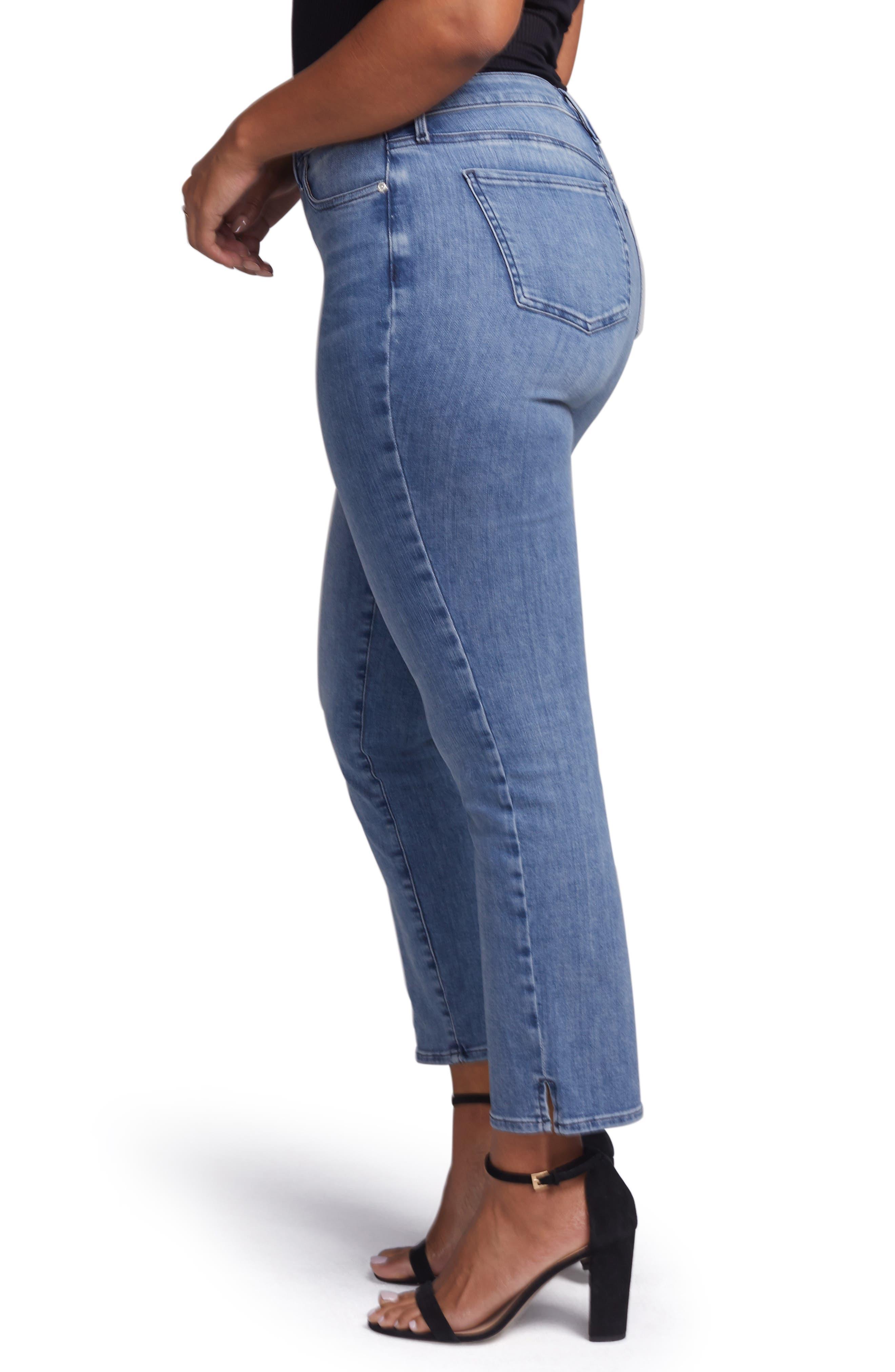 ,                             Slim Ankle Straight Leg Jeans,                             Alternate thumbnail 7, color,                             AQUINO