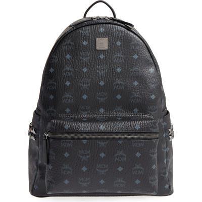 Mcm Medium Stark Visetos Coated Canvas Backpack - Black