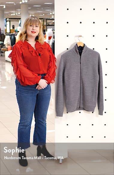 Camerons Track Zip Wool Sweater, sales video thumbnail