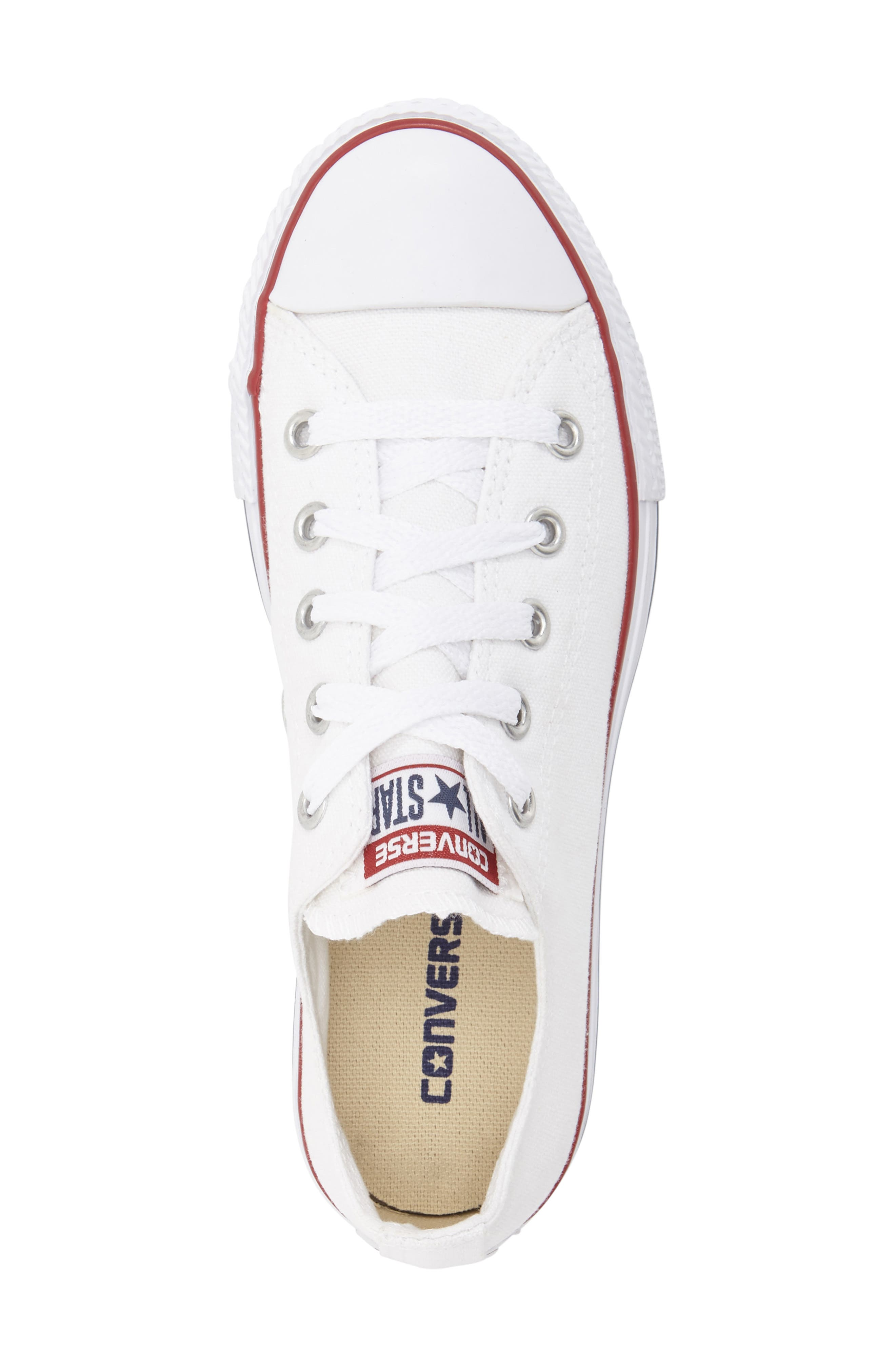 ,                             Chuck Taylor<sup>®</sup> Sneaker,                             Alternate thumbnail 3, color,                             WHITE