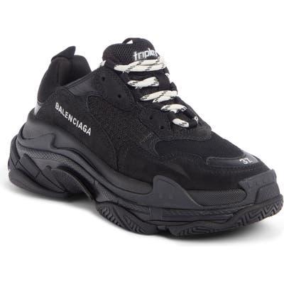 Balenciaga Triple S Low Top Sneaker, Black