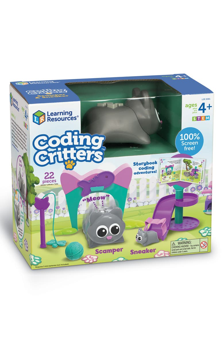 LEARNING RESOURCES Coding Critters<sup>™</sup> Scamper & Sneaker Set, Main, color, MULTI