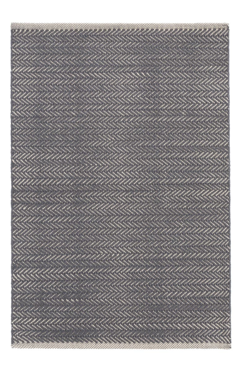 DASH & ALBERT Herringbone Rug, Main, color, SHALE